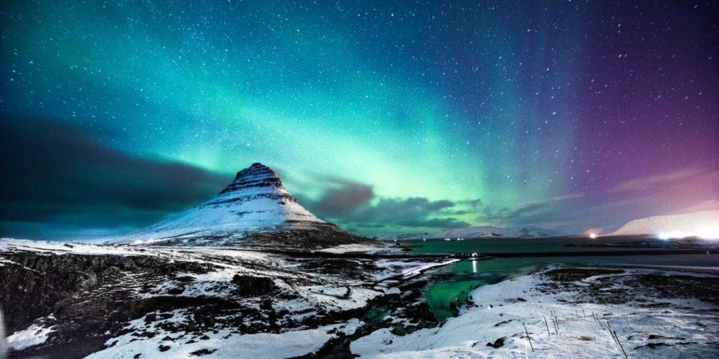 northern lights mount kirkjufell