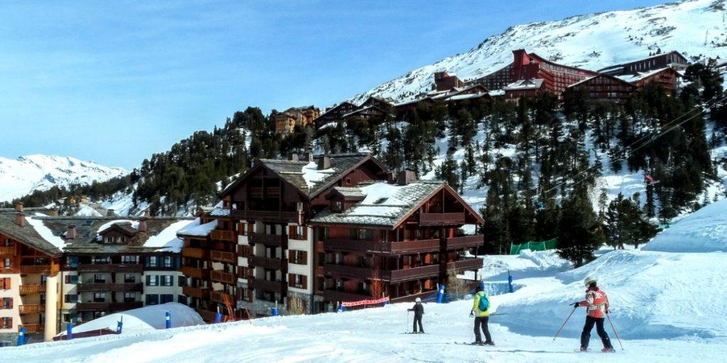 skiing in la plagne france