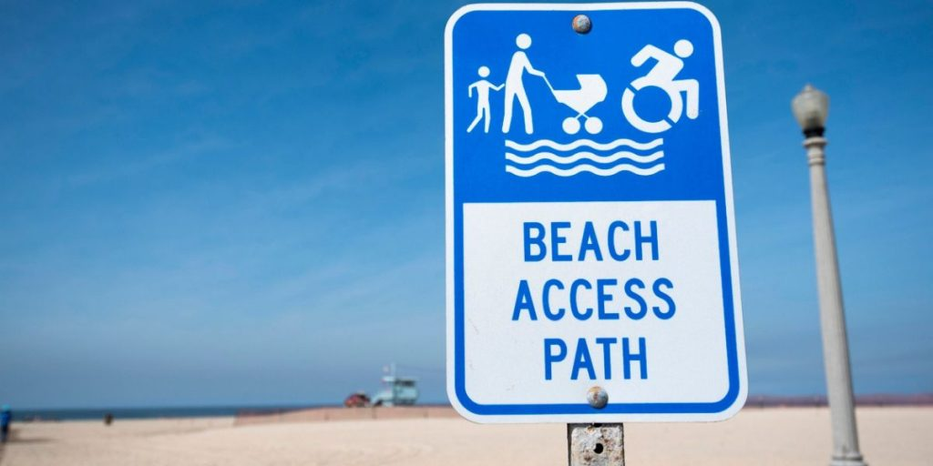 beach access sign