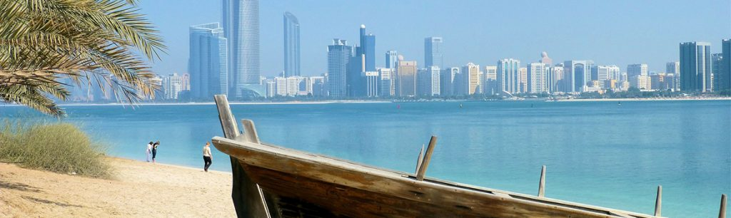 Image of Dubai Skyline and beach