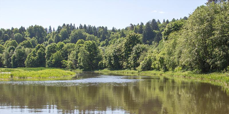 Cruising on the River Nemunas in Birštonas in Lithuania