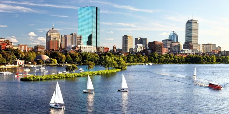 sailing on the boston skyline