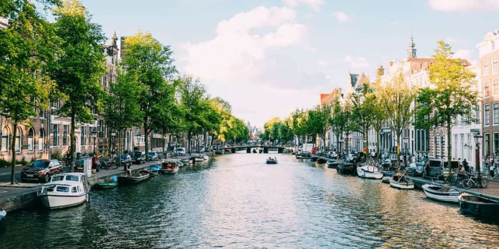 Amsterdam canal side