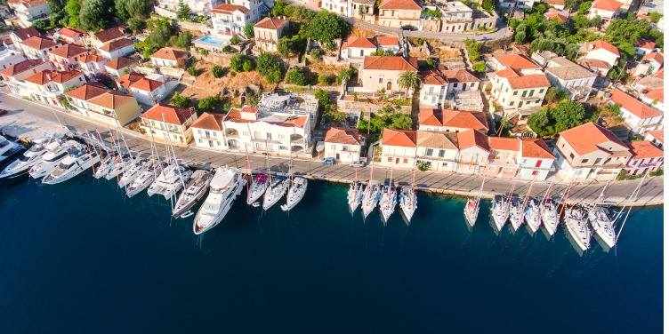 Yachts parked in Ithaca Cyprus