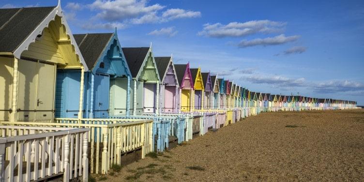 Beach huts in Mersea Island