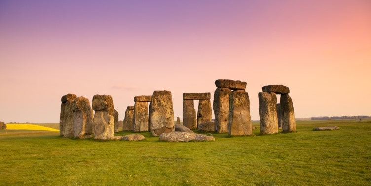Ancient stones at Stonehenge in Wiltshire