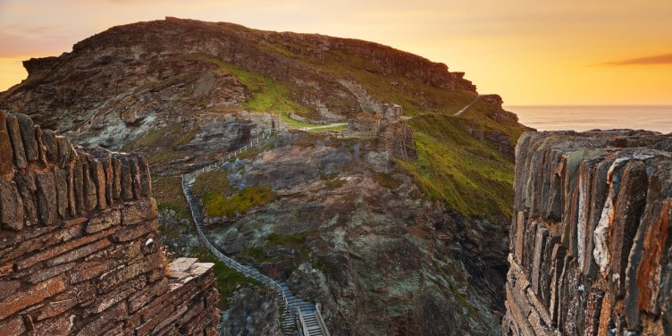 Remains of Tintagel Castle