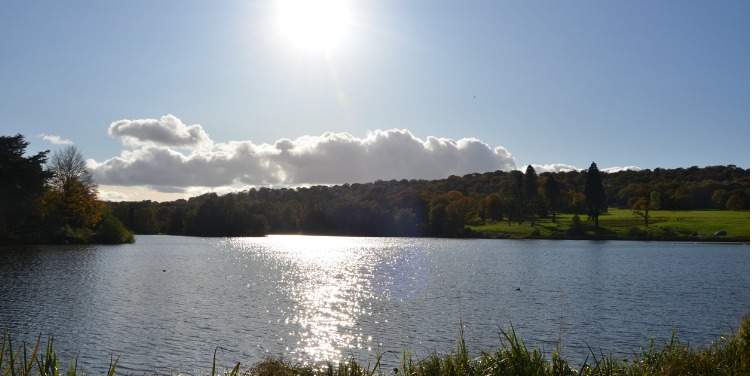 an image of the mile-long lage at Trentham Gardens, Staffordshire