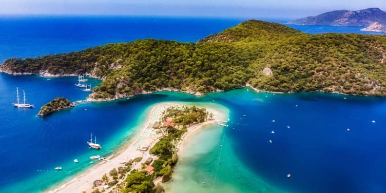 View of the Blue Lagoon bay in Turkey