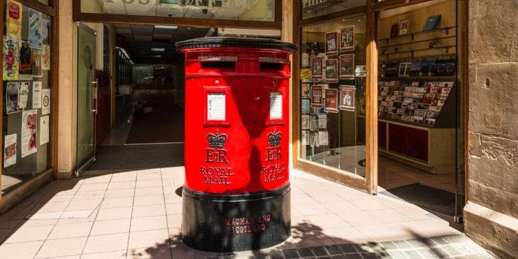 British post box in Gibraltar