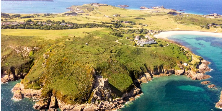 an image of the island Alderney