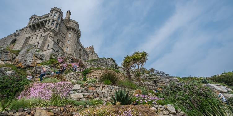 an image of St Michael's mount island and gardens