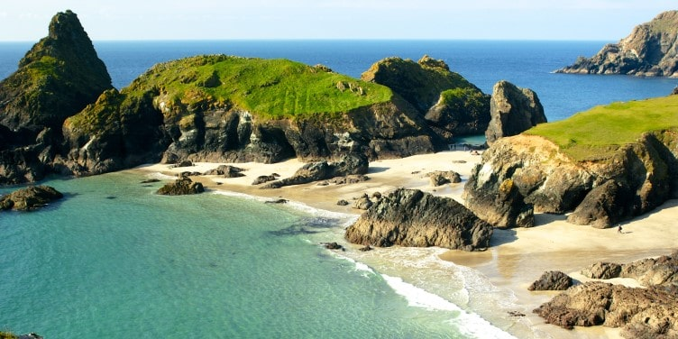 View of Kynance Cove in Cornwall