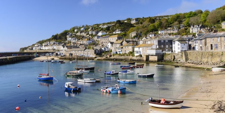 Mousehole fishing village in Cornwall