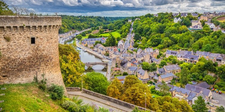 an image of the historic town Dinan, Brittany