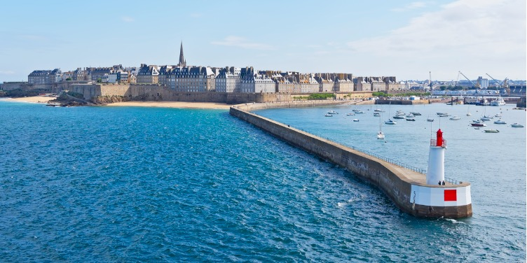 View of St Malo and its city walls