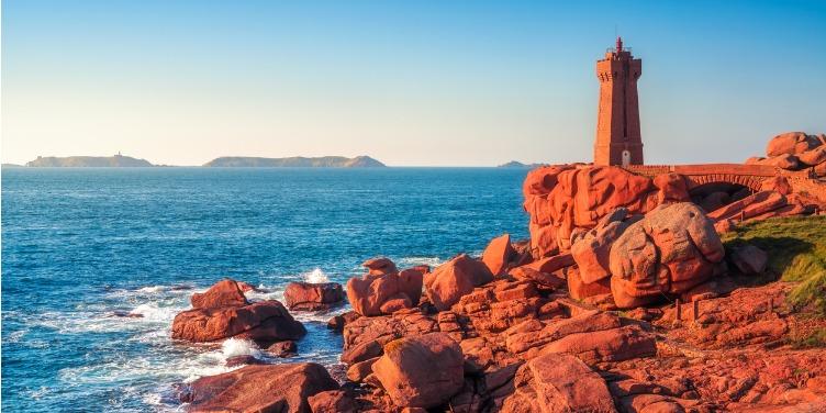 Lighthouse on the Pink Granite Coast